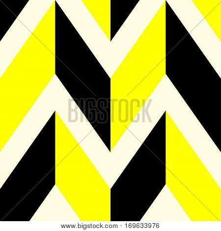 The pattern in which black and yellow lines. Vector illustration