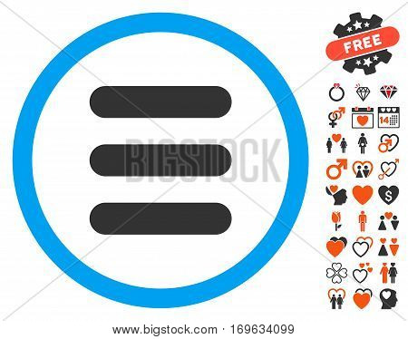 Stack pictograph with bonus decoration clip art. Vector illustration style is flat iconic symbols for web design app user interfaces.