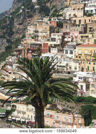splendid view of Positano on the Amalfi coast Naples