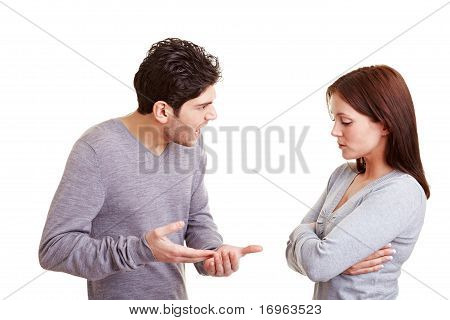 Man Screaming At Woman