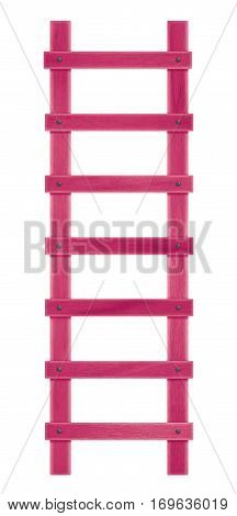 Wooden Step Ladder - Pink