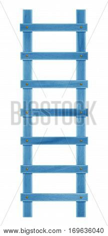 Wooden Step Ladder - Light Blue