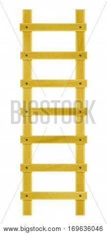 Wooden Step Ladder - Yellow