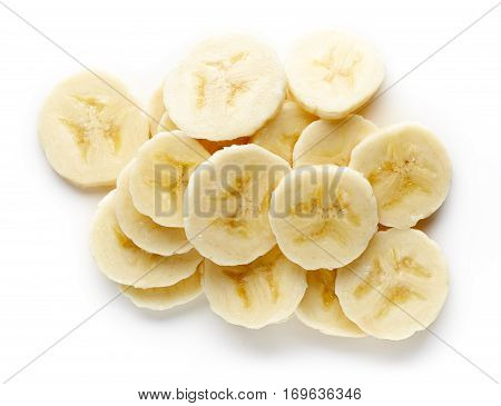 Heap Of Sliced Banana From Above
