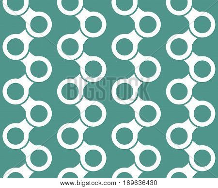 Modern stylish texture. Repeating geometric objects. Vector seamless pattern.