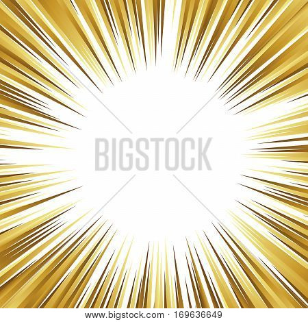 Gold and White background simulating speed, explosion or action in comics and manga.