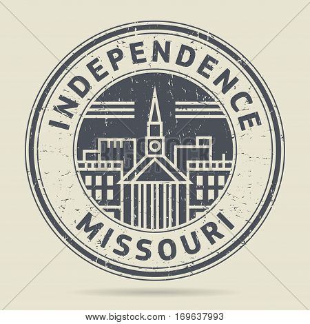 Grunge rubber stamp or label with text Independence Missouri written inside vector illustration