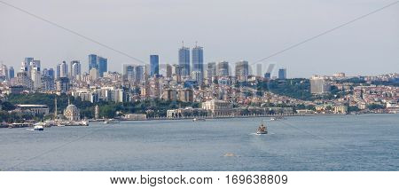 The Modern Istanbul And The Bosphorus, Turkey