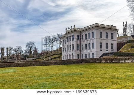 Image of Marienlyst Castle and its public gardens. Helsingor Denmark.