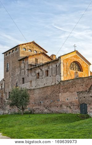 The Church of San Bonaventura al Palatino is a small 17th century church in Rome built on the Palatine Hill. It is a Franciscan monastery church built by Francesco Barberini on the request of the Blessed Bonaventura Gran and was completed in 1689.