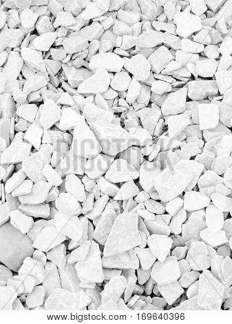 Abstract texture background of white rocks and stones