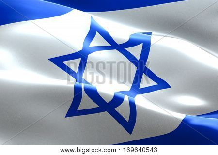 Israel Flag Waving Texture Fabric Background, Crisis Of Jew And Islam Palestine, Risk War