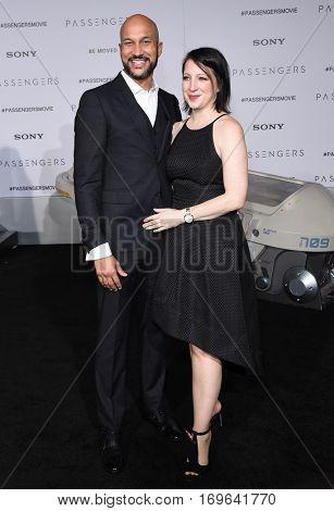 LOS ANGELES - DEC 14:  Keegan-Michael Key and Cynthia Blaise arrives to the