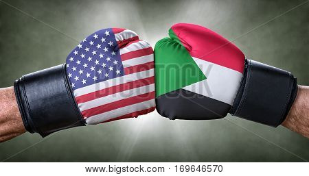 A Boxing Match Between The Usa And Sudan