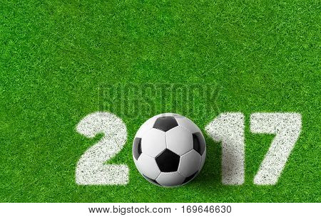A green Football background 2017 with copy space