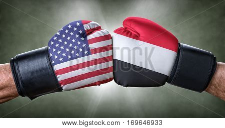 A Boxing Match Between The Usa And Yemen