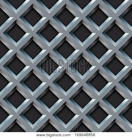 Seamless metal grill with diamond shape pattern illustration.