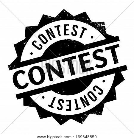 Contest rubber stamp. Grunge design with dust scratches. Effects can be easily removed for a clean, crisp look. Color is easily changed.