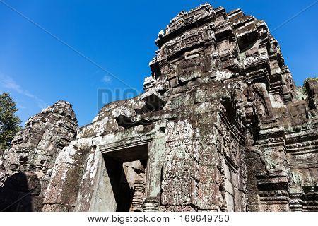Cambodia Angkor Thom Ta Som entrance.