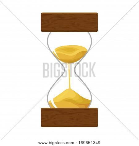 hourglass or sandglass icon image vector illustration design
