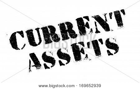 Current Assets rubber stamp. Grunge design with dust scratches. Effects can be easily removed for a clean, crisp look. Color is easily changed.