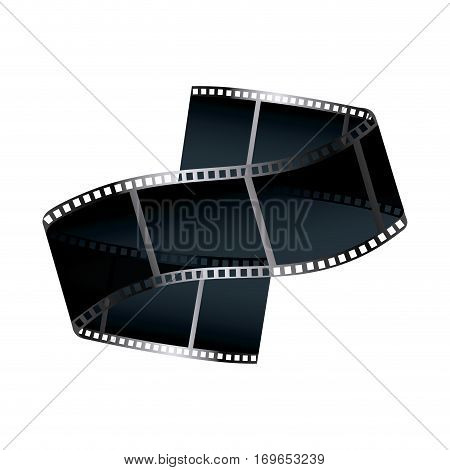 film tape icon over white background. vecotr illustration