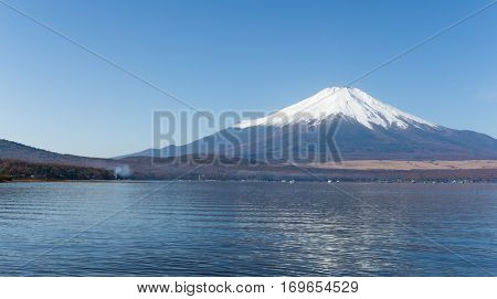 Lake Yamanashi and Mount Fuji