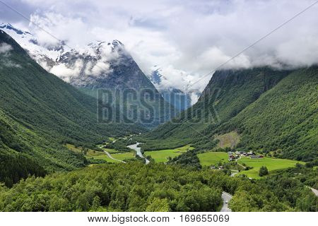 Valley In Norway