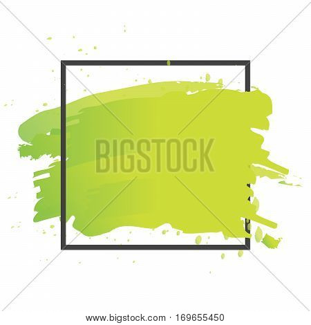 Art Brush Paint Vector. Abstract Texture Background Design Acrylic Stroke Poster Illustration. Perfe