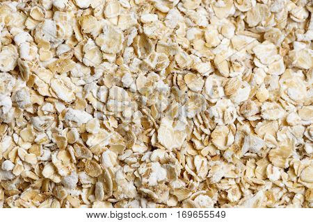 oat flakes raw food ingredient texture macro close up detailed