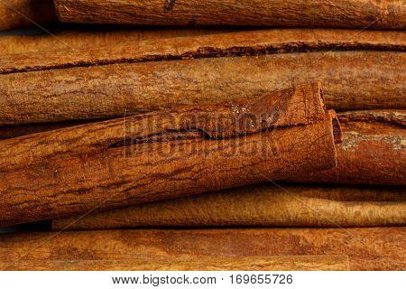 cinnamon raw food ingredient texture macro close up detailed