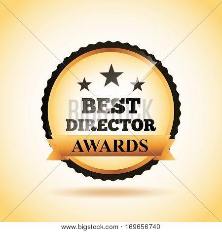 seal stamp of actors awards concept. colorful design. vector illustration