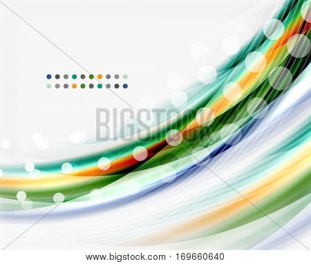 Translucent wave line, business or technology layout