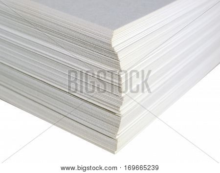 Paper Ream Isolated Over White