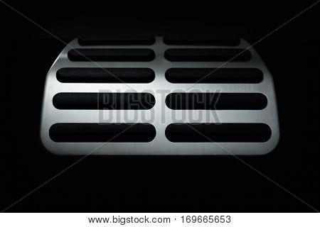 Car Pedal. In the deep shadows. Selective focus