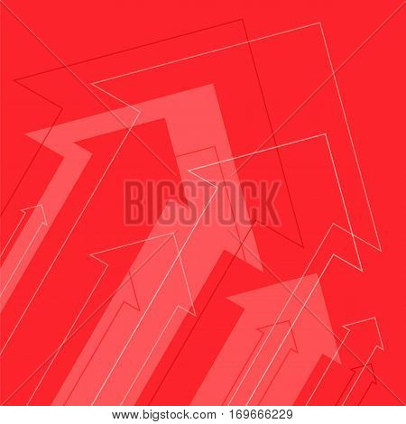 Increasing arrows abstract background. Flat vector concept illustration of growth arrows and power. Infographic design element for web internet print presentation document booklet social network