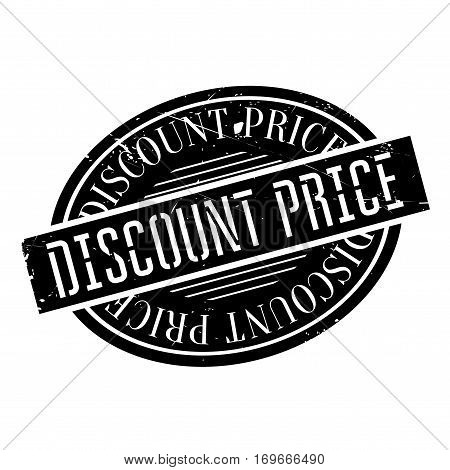 Discount Price rubber stamp. Grunge design with dust scratches. Effects can be easily removed for a clean, crisp look. Color is easily changed.