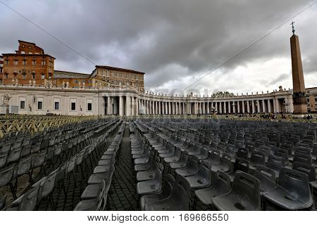 St. Peter's Square At The Vatican City