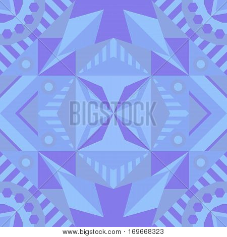 Soothing seamless geometric pattern. Traditional. Vector illustration.