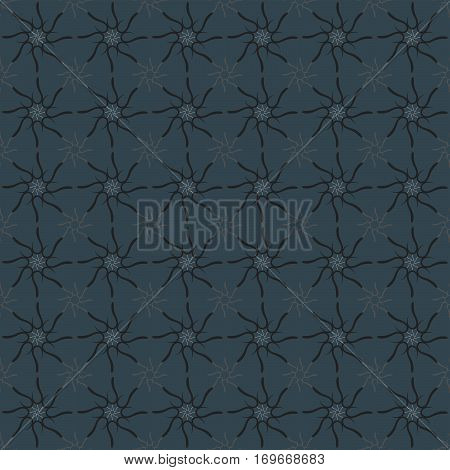 Arabic abstract geometric pattern. Letter simbol on a blue-gray background.