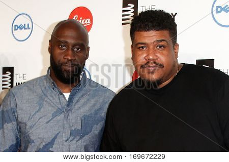 NEW YORK-MAY 19: Special Achievement Winners Kelvin Mercer (L) and David Jude Jolicoeur of De La Soul attend the 18th Annual Webby Awards at Cipriani Wall Street on May 19, 2014 in New York City.