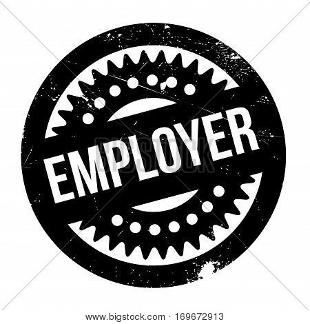 Employer rubber stamp. Grunge design with dust scratches. Effects can be easily removed for a clean, crisp look. Color is easily changed.