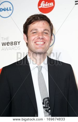 NEW YORK-MAY 19:  Executive Director of the Webby Awards, David-Michel Davies attends the 18th Annual Webby Awards at Cipriani Wall Street on May 19, 2014 in New York City.