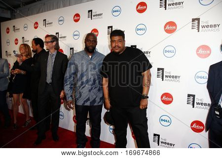 NEW YORK-MAY 19: Kelvin Mercer and David Jude Jolicoeur (R) of De La Soul attend the 18th Annual Webby Awards at Cipriani Wall Street on May 19, 2014 in New York City.
