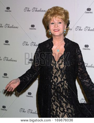 LOS ANGELES -OCT 11:  Debbie Reynolds arrives at the Thalians Ball at the Century Plaza Hotel on October 11, 2003 in Century City, CA
