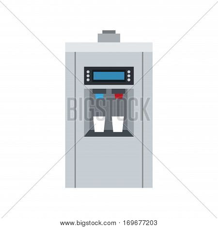 water dispenser icon over white background. colorful design. vector illustration