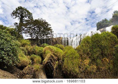 Elephant Waterfalls Near Nam Ban Village, Dalat, Vietnam