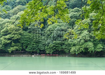 Katsura River in the Arashiyama in Kyoto