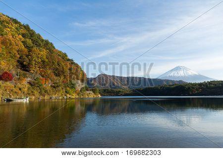 Saiko Lake and Mountain Fuji