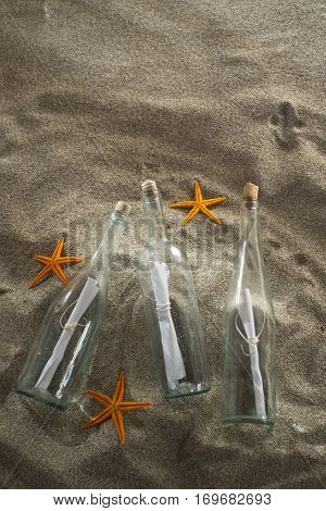Message In A Bottle At The Beach